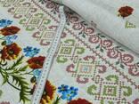 Скатерти, полотенца в украинском стиле, лён-рогожка - фото 3