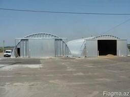 Зернохранилища напольного типа - стальные зерносклады - фото 2