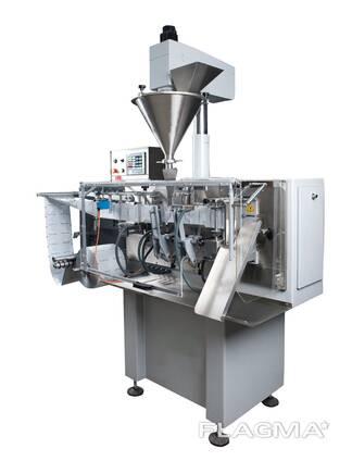 Горизонтальная машина для фасовки сыпучей порошковой продукции в саше пакет