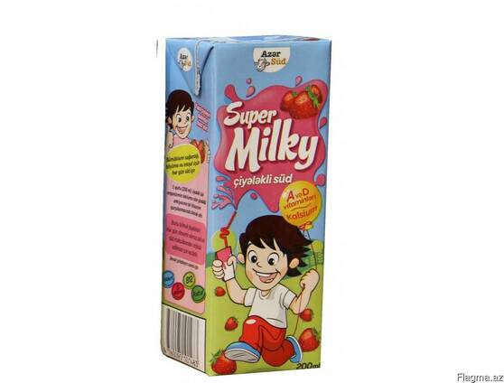 """Молоко """" Azərsüd Super Milky """" 200 мл"""