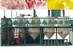 Оборудование переработки животных жиров для кормового жира