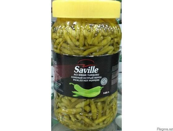 """Соленья из острых перцев """"Saville"""" 2.4 кг"""
